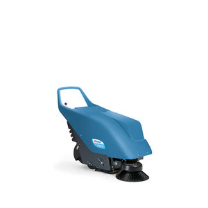 walk-behind sweeper / battery-powered / gasoline