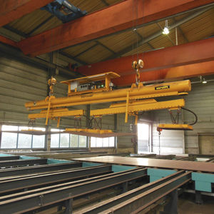 sheet metal vacuum lifting device / for overhead cranes / horizontal