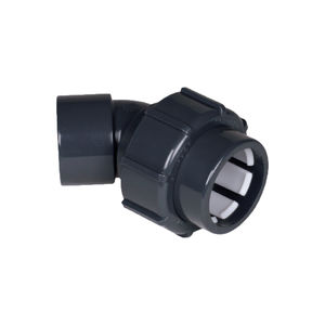 screw-in fitting / 45° angle / PVC