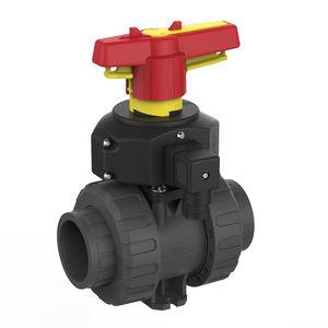 ball valve / manual / modular / PVC