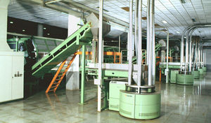 vertical feeder / automatic / conveying / for packaging lines