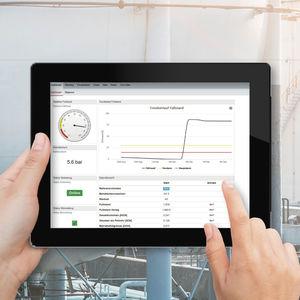 management mobile app / level visualization / monitoring / web-based