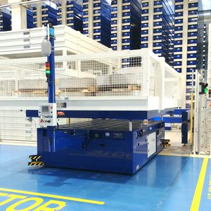 handling automatic guided vehicle / for heavy loads / for warehouses / for loading