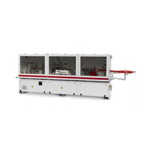 automatic edge-banding machine / for panels / with glue applicator