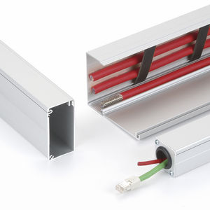 cabling trunking / aluminum / molding and baseboard / modular