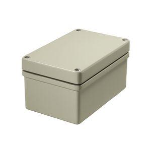 wall-mount enclosure / rectangular / aluminum / screw cover