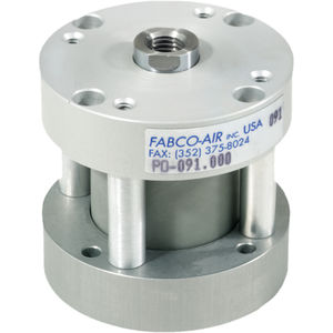 pneumatic cylinder / hydraulic / single-acting / with piston rod