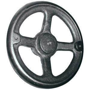 "8/"" Cast Iron Dish Spoked Handwheel with Revolving Handle Brand New"