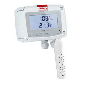 wall-mount temperature and CO2 transmitter