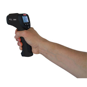 infrared thermometer / digital / hand-held / with double laser