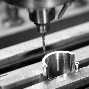 steel milling machining / stainless steel / aluminum / brass