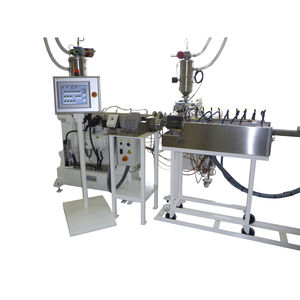 tube extrusion line / for thermoplastics / for medical applications / for spiral tubes