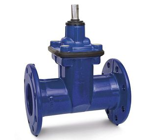 gate valve / shut-off / for water / rubber