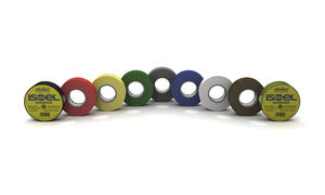PVC adhesive tape / for cables / for marking / insulating