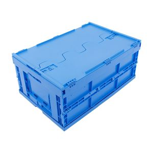 PP crate / transport / with lid / folding