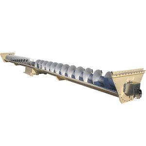 screw conveyor / for bulk materials / trough