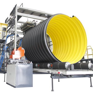 tube extrusion line / for steel-plastic composites / for corrugated pipe / for drainage pipes