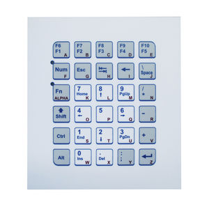 28-key keypad / panel-mount / metal / OEM