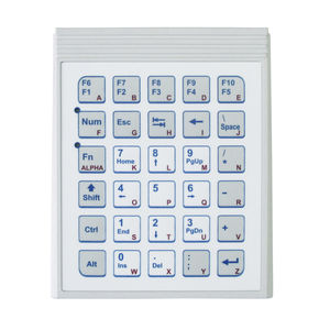 32-key keypad / panel-mount / polycarbonate / OEM