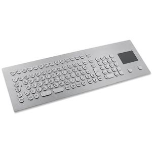 panel-mount keyboard / 105-key / with touchpad / stainless steel