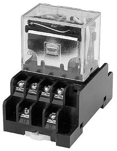 110VAC electromechanical relay / 24VDC / power / DIN rail
