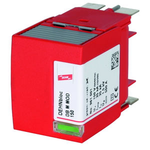 type 1 surge arrester / for power supplies / for electrical installations / with fault indication
