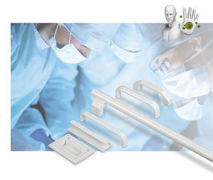 adaptable handle / for medical applications / aluminum / with protection