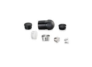 round plug / male / aluminum / for tubes