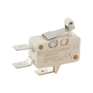 single-pole micro-switch / with roller lever / AC / miniature