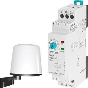 DIN rail light dependant relay