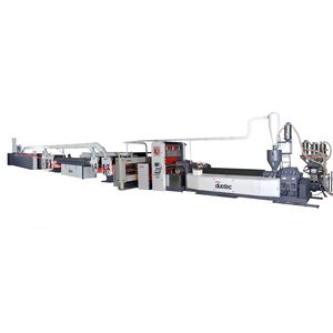 tape extrusion line / for thermoplastics / 3-layer