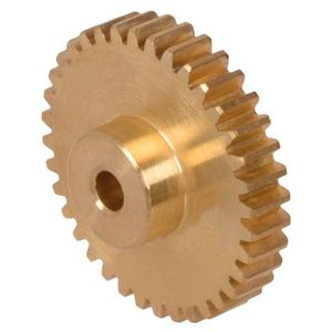 cylindrical gear / straight-toothed / brass