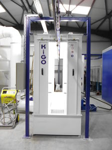 vertical powder coating line