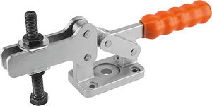 horizontal toggle clamp / with fixed clamping spindle / steel / for heavy loads