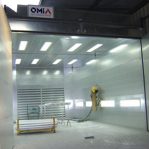 metallization paint booth / enclosed / for parts / for vehicles