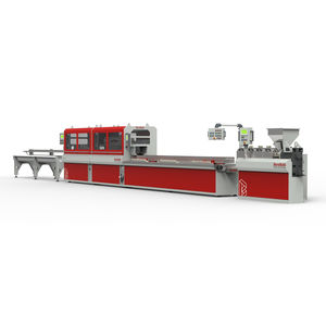 tube extrusion line / profile / for thermoplastics / compact