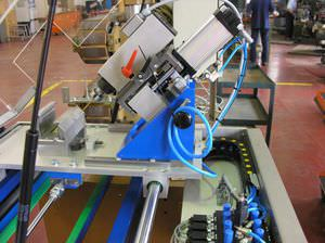 PLC-controlled drilling machine / for profiles / vertical