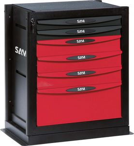 storage cabinet / benchtop / 6-drawer / metal