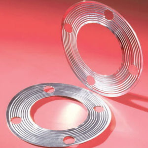 lipped seal / circular / stainless steel / flange