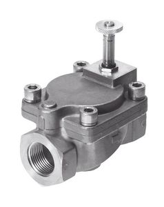 pilot-operated solenoid valve / 2/2-way / NC / water