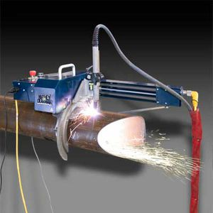 portable orbital tube-cutting machine / plasma