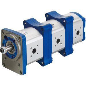 external-gear hydraulic pump / modular / double / triple