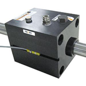 pneumatic rod lock / anodized / pneumatic cylinder-mounted / NFPA