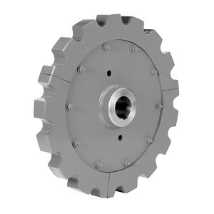 straight-toothed sprocket wheel / chain / split