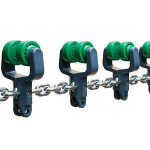 transmission chain / steel / conveyor / for the food industry
