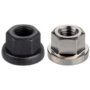 hexagonal nut / flange / steel