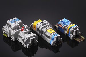 screw connection terminal block / push-in / screwless / spring cage connection