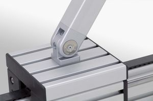 zinc-coated steel hinge / aluminum / zinc / for aluminum profiles