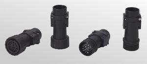 RF connector / circular / screw-in / multipole