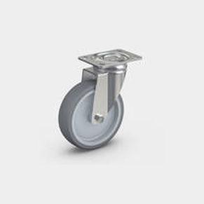 swivel caster / base plate / ball bearing / stainless steel